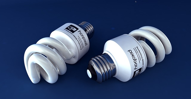 dvě úsporné žárovky