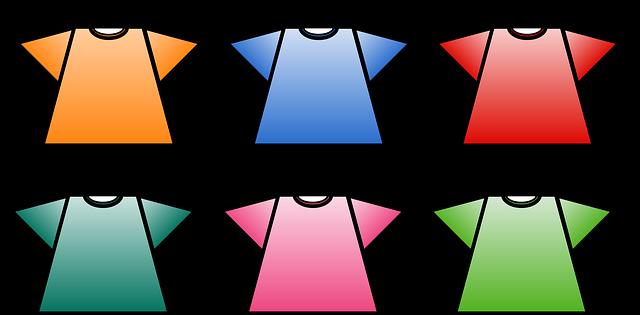 barevný trička